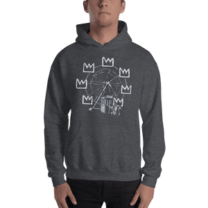 Banksy Ferris Wheel Homage to Basquiat Artwork Unisex Hoodie - [variant_title] by Art-O-Rama