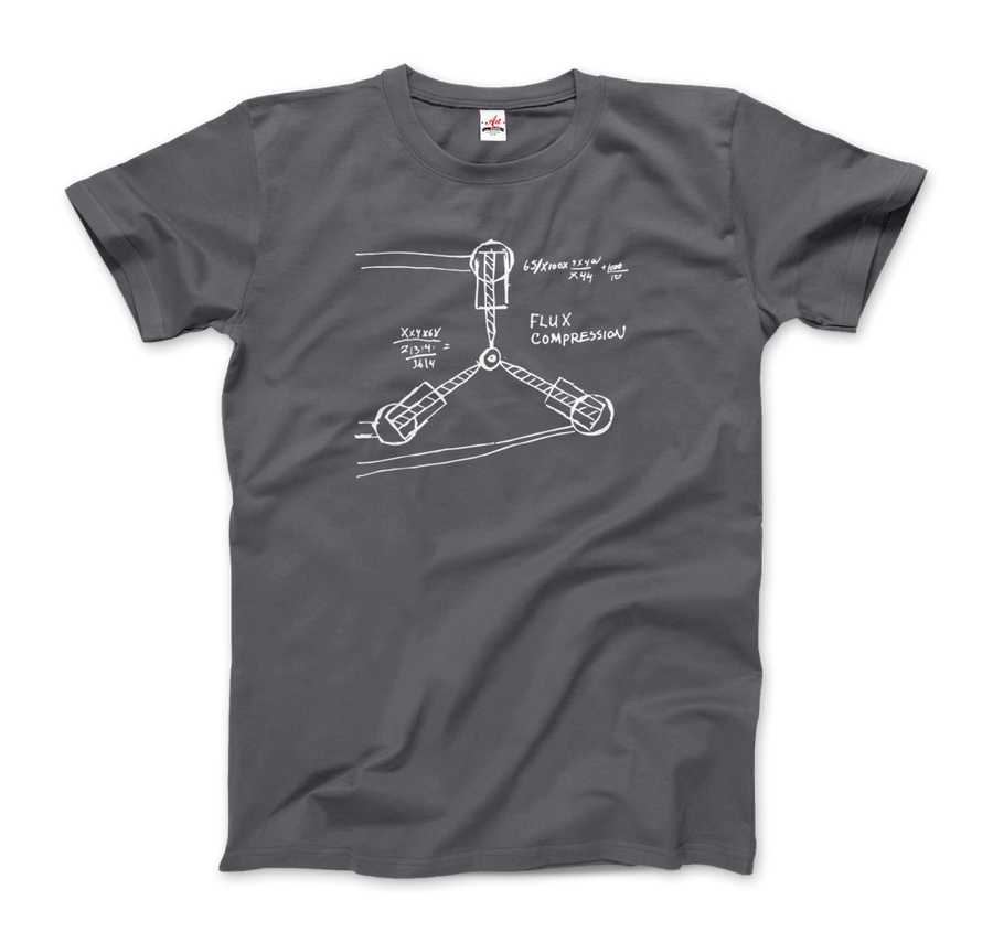 Flux Capacitor Sketch from Back to the Future T-Shirt - Men / Charcoal / Small by Art-O-Rama