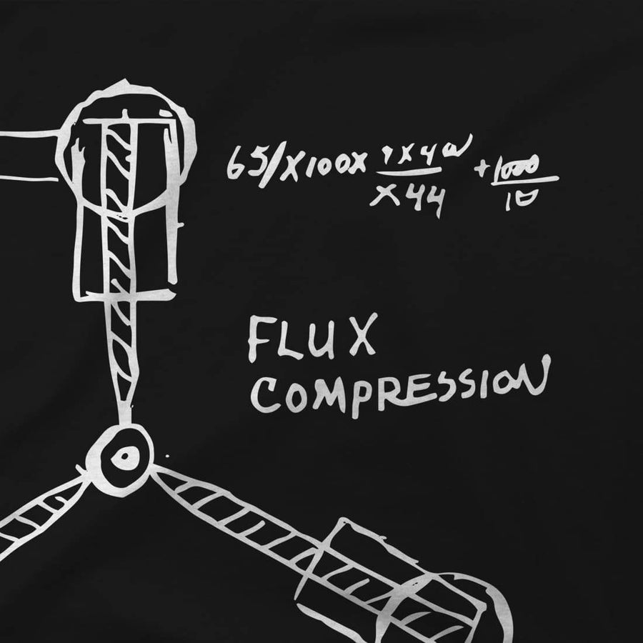 Flux Capacitor Sketch from Back to the Future Artwork T-Shirt - [variant_title] by Art-O-Rama