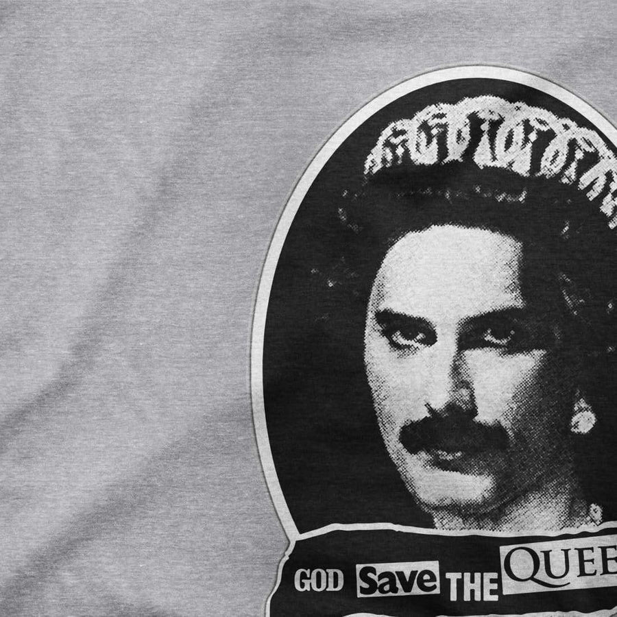 Freddie Mercury God Save The Queen Parody T-Shirt - [variant_title] by Art-O-Rama