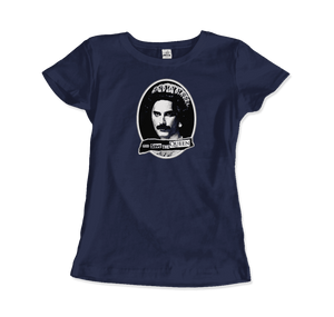 Freddie Mercury God Save The Queen Parody T-Shirt - Women / Navy / Small by Art-O-Rama