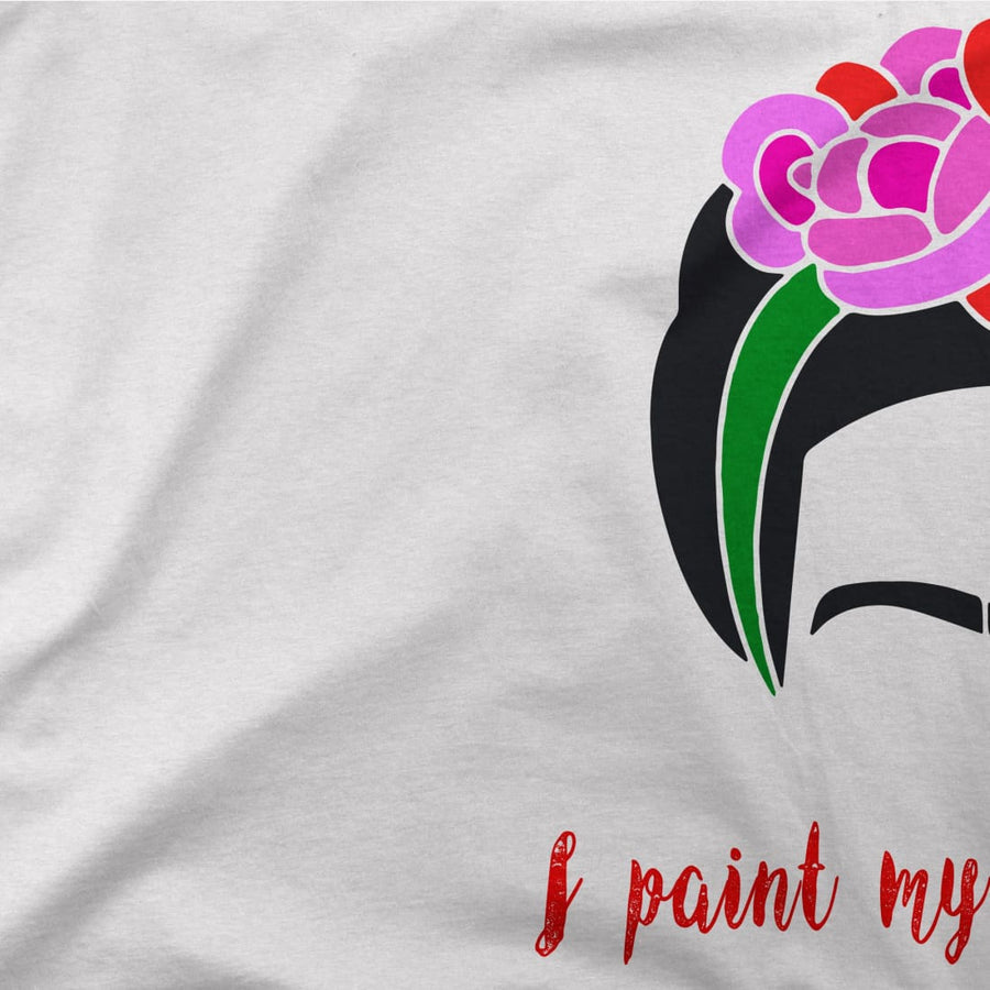 Frida Kahlo - I Paint My Own Reality - Quote T-Shirt - [variant_title] by Art-O-Rama