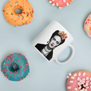 Frida Kahlo With Flowers Poster Artwork Mug - Mug