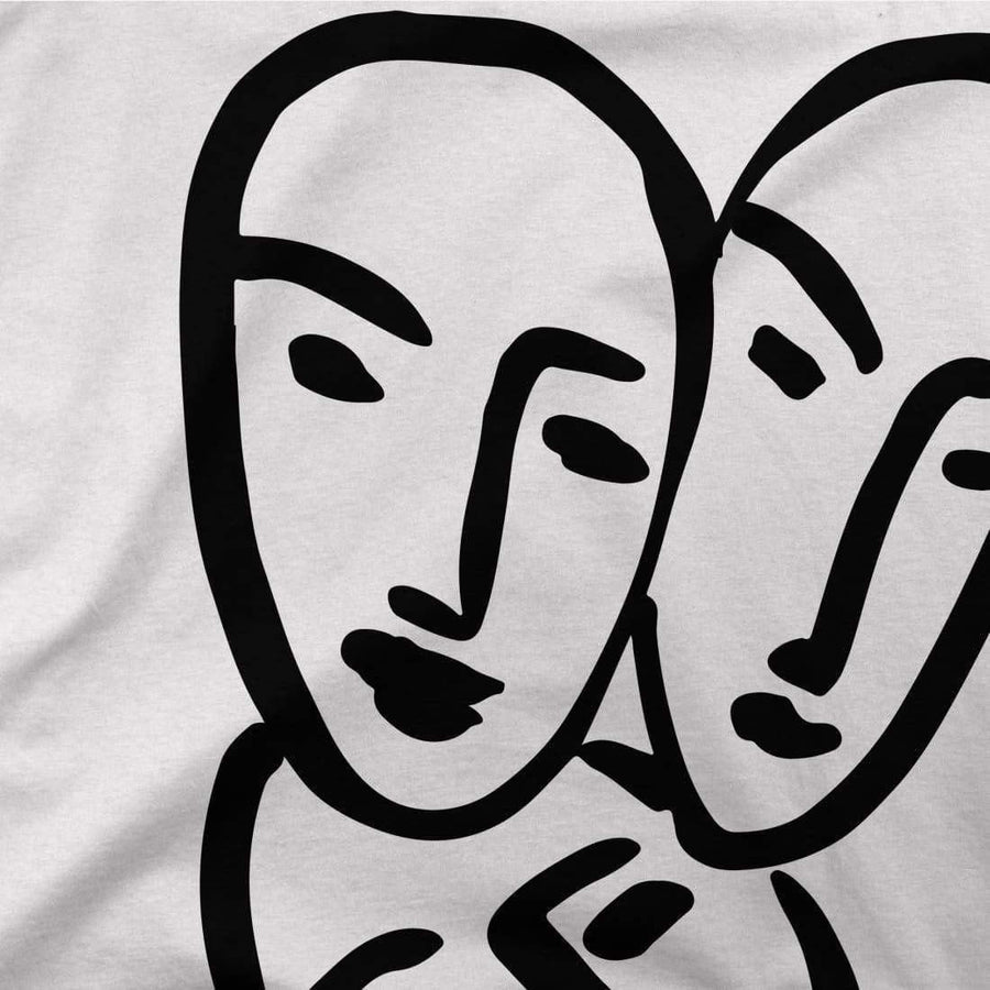 Henri Matisse Apollinaire Three Heads to Friendship 1952 Artwork T-Shirt - [variant_title] by Art-O-Rama
