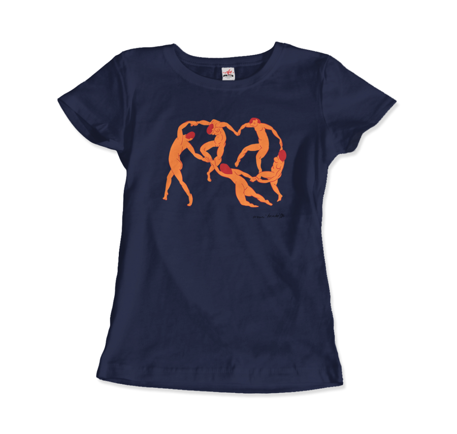 Henri Matisse La Danse I (The Dance) 1909 Artwork T-Shirt - Women / Navy / Small by Art-O-Rama