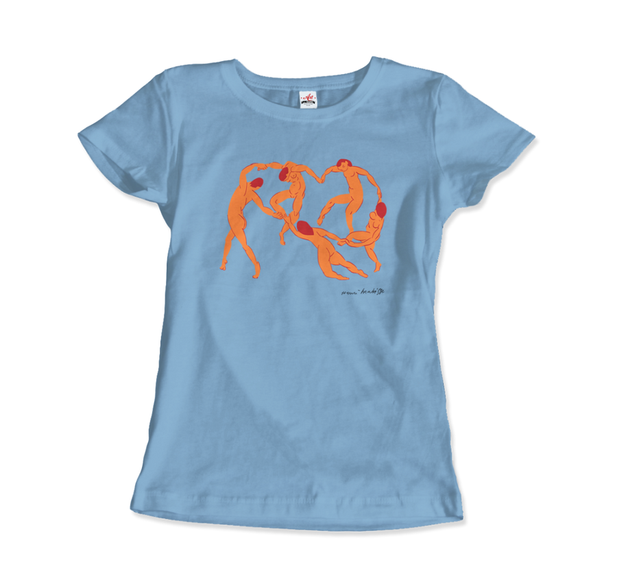 Henri Matisse La Danse I (The Dance) 1909 Artwork T-Shirt - Women / Light Blue / Small by Art-O-Rama