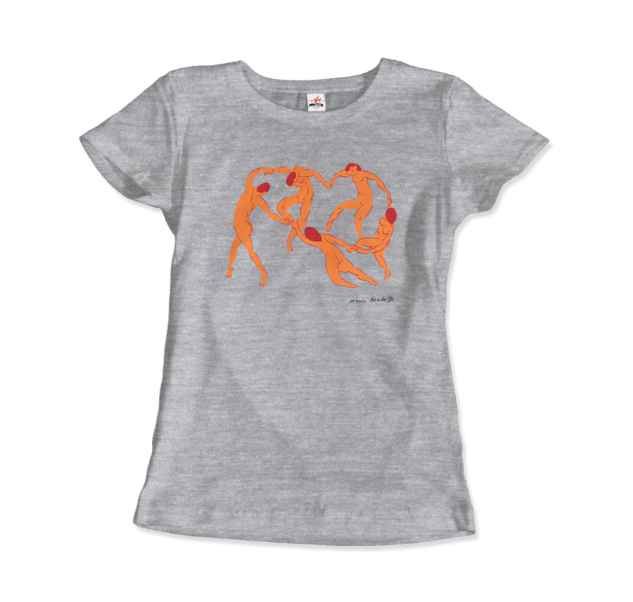 Henri Matisse La Danse I (The Dance) 1909 Artwork T-Shirt - Women / Heather Grey / Small by Art-O-Rama