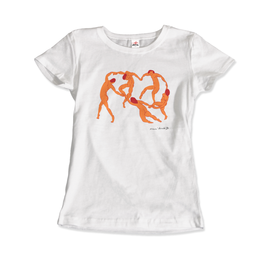 Henri Matisse La Danse I (The Dance) 1909 Artwork T-Shirt - Women / White / Small by Art-O-Rama