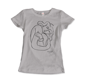 Henri Matisse Pasiphae 1944 Plate 2: Woman With Arms Crossed T-Shirt - Women / Silver / Small by Art-O-Rama