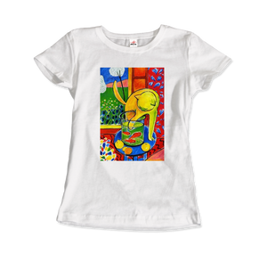 Henri Matisse The Cat With Red Fishes 1914 Artwork T-Shirt - Women / White / Small by Art-O-Rama