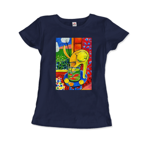 Henri Matisse The Cat With Red Fishes 1914 Artwork T-Shirt - Women / Navy / Small by Art-O-Rama
