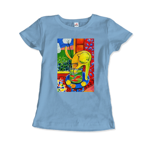 Henri Matisse The Cat With Red Fishes 1914 Artwork T-Shirt - Women / Light Blue / Small by Art-O-Rama