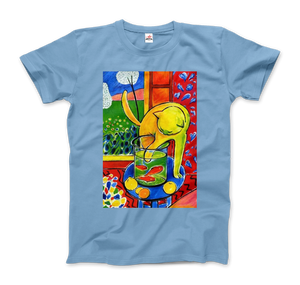 Henri Matisse The Cat With Red Fishes 1914 Artwork T-Shirt - Men / Light Blue / Small by Art-O-Rama