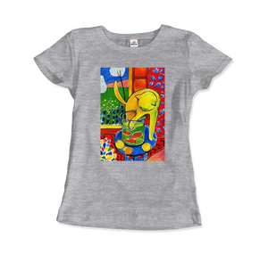 Henri Matisse The Cat With Red Fishes 1914 Artwork T-Shirt - Women / Heather Grey / Small by Art-O-Rama