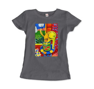 Henri Matisse The Cat With Red Fishes 1914 Artwork T-Shirt - Women / Charcoal / Small by Art-O-Rama