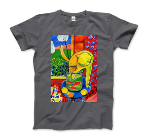 Henri Matisse The Cat With Red Fishes 1914 Artwork T-Shirt - Men / Charcoal / Small by Art-O-Rama