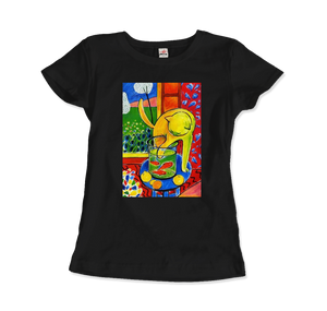 Henri Matisse The Cat With Red Fishes 1914 Artwork T-Shirt - Women / Black / Small by Art-O-Rama
