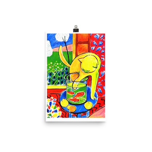 Henri Matisse The Cat With Red Fishes 1914 Poster - Matte / 11 (W) x 17 (H) - Poster