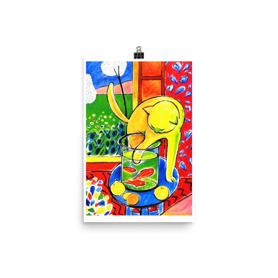 "Henri Matisse The Cat With Red Fishes 1914 Poster - Matte / 11"" (W) x 17"" (H) by Art-O-Rama"