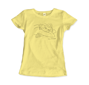 Henri Matisse Young Woman With Face Buried in Arms Artwork T-Shirt - Women / Spring Yellow / Small by Art-O-Rama