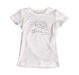 Henri Matisse Young Woman With Face Buried in Arms Artwork T-Shirt - Women / White / Small by Art-O-Rama