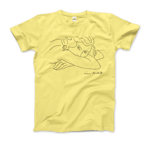 Henri Matisse Young Woman With Face Buried in Arms Artwork T-Shirt - Men / Spring Yellow / Small by Art-O-Rama