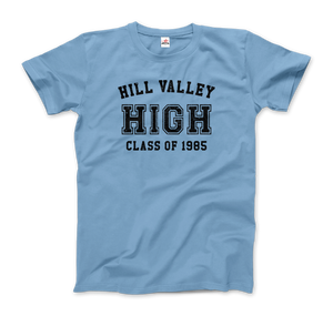 Hill Valley High School Class of 1985 - Back to the Future T-Shirt - Men / Light Blue / Small - T-Shirt