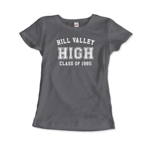 Hill Valley High School Class of 1985 - Back to the Future T-Shirt - Women / Charcoal / Small - T-Shirt
