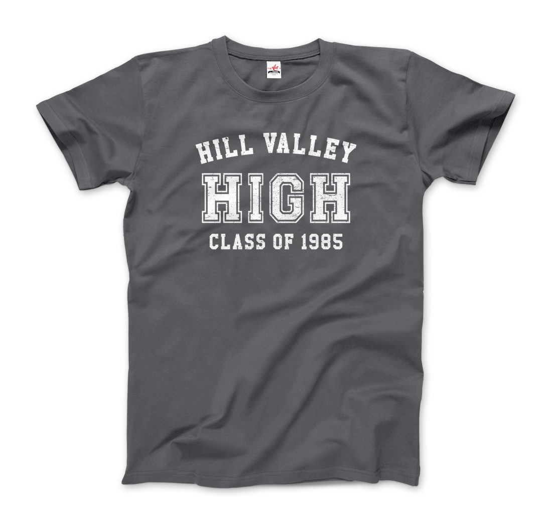 Back to the Future 1985 Hill Valley Juniors and Women Athletic Heather Shirts