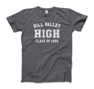 Hill Valley High School Class of 1985 - Back to the Future T-Shirt - Men / Charcoal / Small - T-Shirt