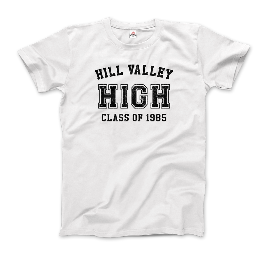 Hill Valley High School Class of 1985 - Back to the Future T-Shirt - Men / White / Small - T-Shirt