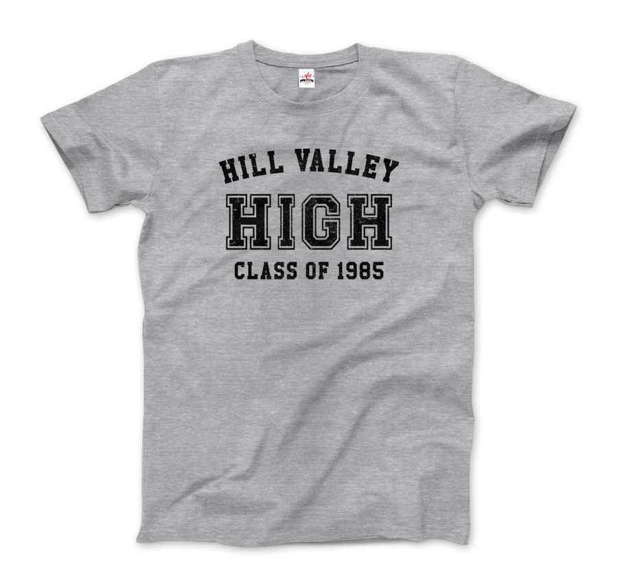 Hill Valley High School Class of 1985 - Back to the Future T-Shirt - Men / Heather Grey / Small - T-Shirt