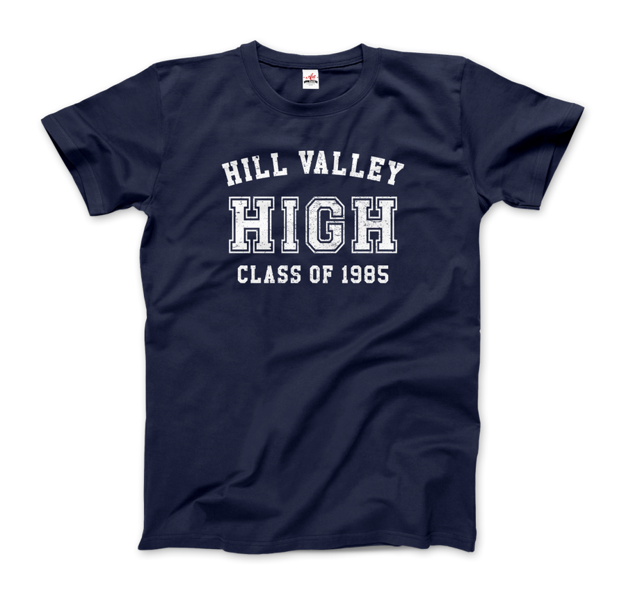 Hill Valley High School Class of 1985 - Back to the Future T-Shirt - Men / Navy / Small - T-Shirt