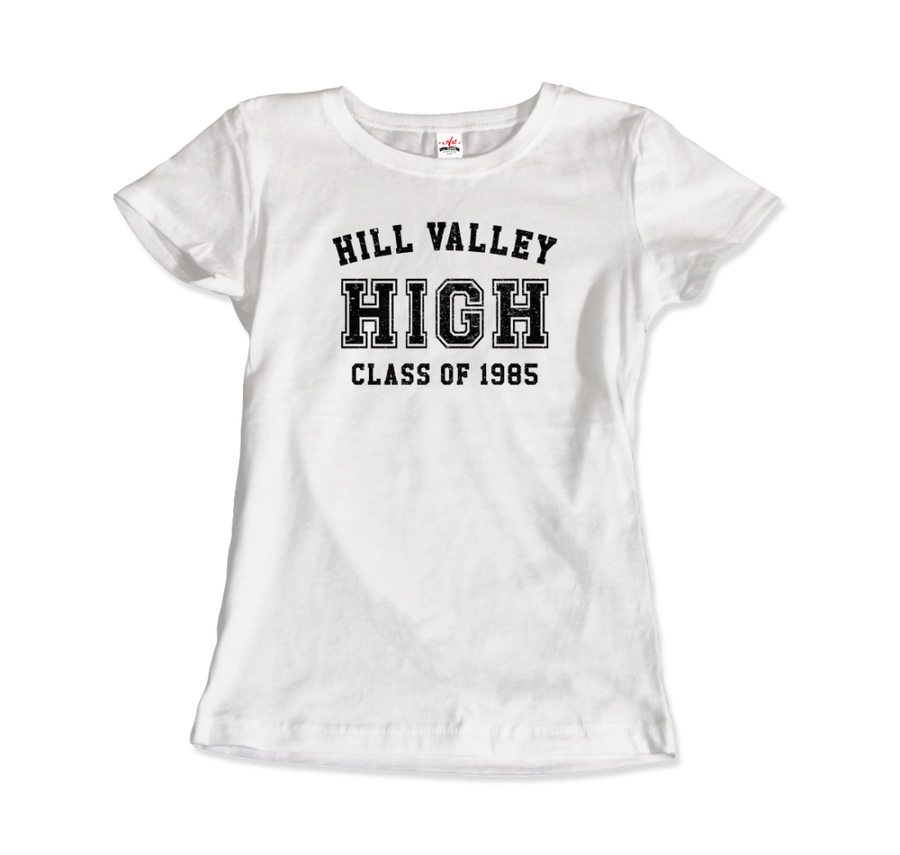 Hill Valley High School Class of 1985 - Back to the Future T-Shirt - Women / White / Small - T-Shirt