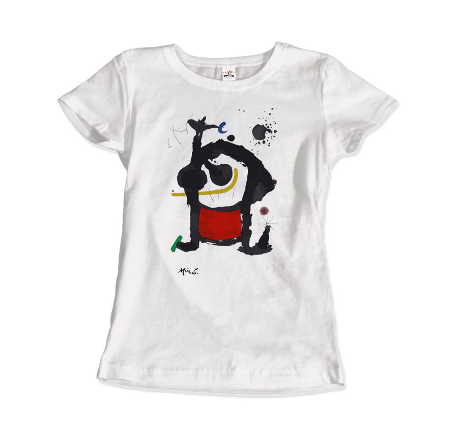 Joan Miro Bethsabee 1972 Artwork T-Shirt - Women / White / Small by Art-O-Rama