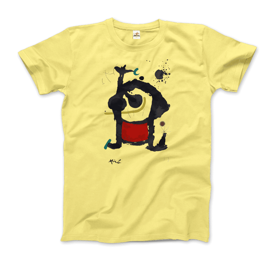 Joan Miro Bethsabee 1972 Artwork T-Shirt - Men / Spring Yellow / Small by Art-O-Rama
