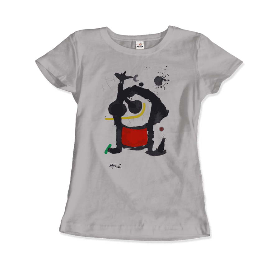 Joan Miro Bethsabee 1972 Artwork T-Shirt - Women / Silver / Small by Art-O-Rama