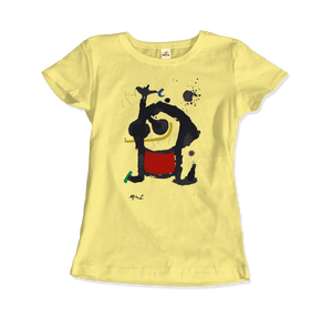 Joan Miro Bethsabee 1972 Artwork T-Shirt - Women / Spring Yellow / Small by Art-O-Rama