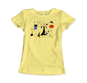 Joan Miro El Sol (The Sun) 1949 Artwork T-Shirt - Women / Spring Yellow / Small by Art-O-Rama