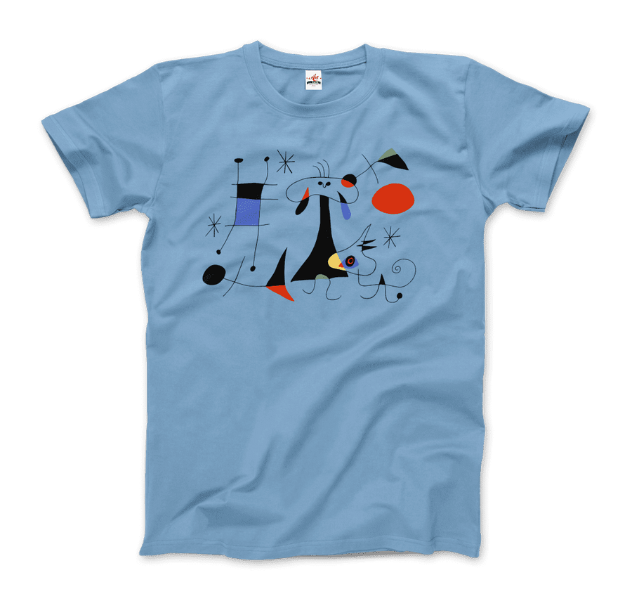 Joan Miro El Sol (The Sun) 1949 Artwork T-Shirt - Men / Light Blue / Small by Art-O-Rama