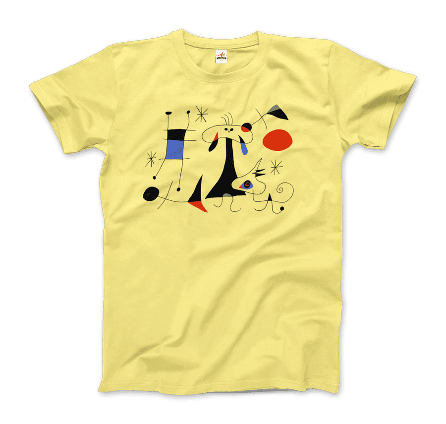 Joan Miro El Sol (The Sun) 1949 Artwork T-Shirt - Men / Spring Yellow / Small by Art-O-Rama