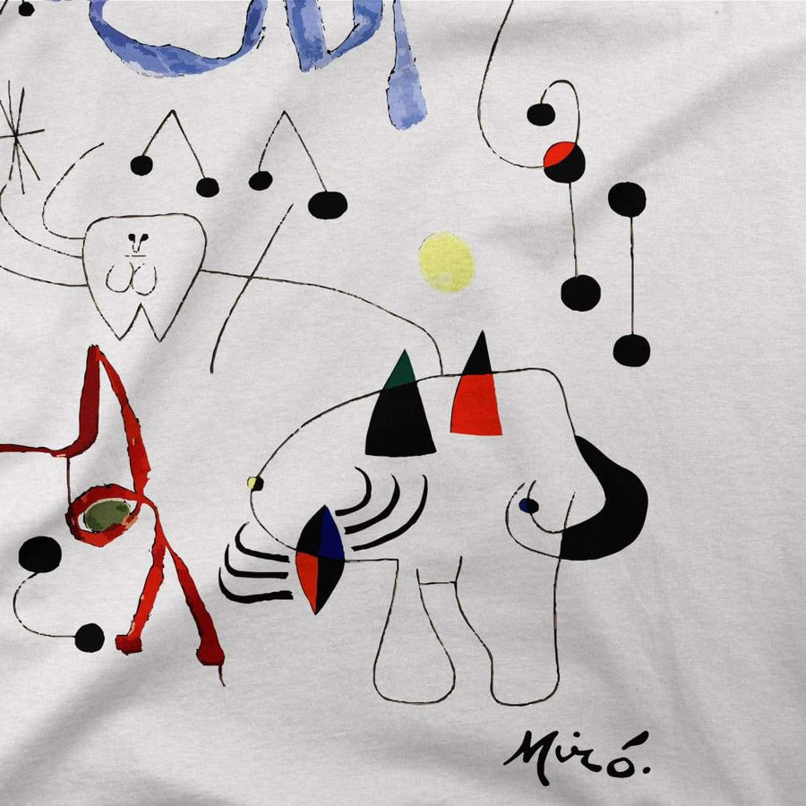 Joan Miro Woman Dreaming of Escape 1945 Artwork T-Shirt - [variant_title] by Art-O-Rama
