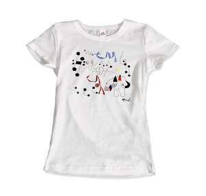 Joan Miro Woman Dreaming of Escape 1945 Artwork T-Shirt - Women / White / Small by Art-O-Rama