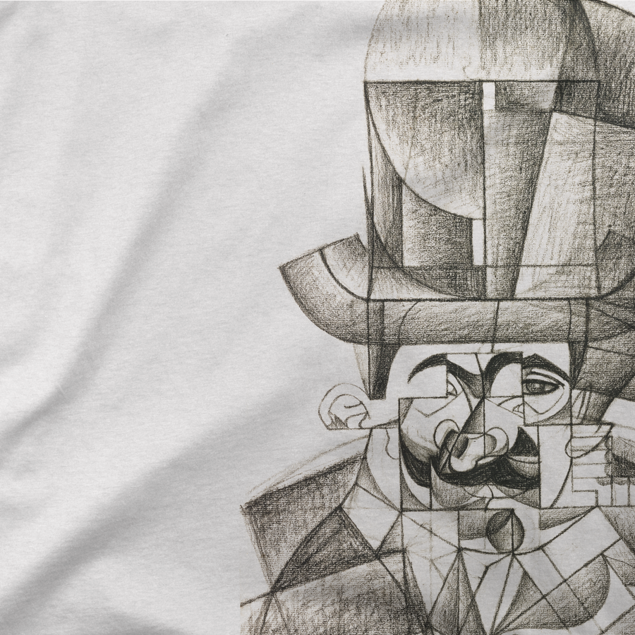 Juan Gris Man with Opera Hat 1912 Artwork T-Shirt - [variant_title] by Art-O-Rama