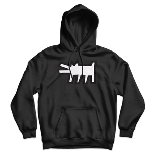 Keith Haring The Barking Dog Icon, 1990 Street Art Hoodie - Black / S by Art-O-Rama