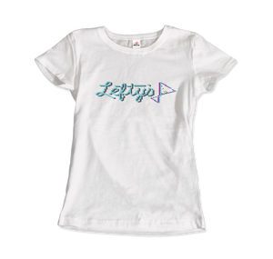 Leisure Suit Larry 1987, Lefty's Bar Logo T-Shirt - Women / White / Small by Art-O-Rama