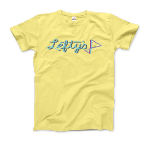Leisure Suit Larry 1987, Lefty's Bar Logo T-Shirt - Men / Spring Yellow / Small by Art-O-Rama