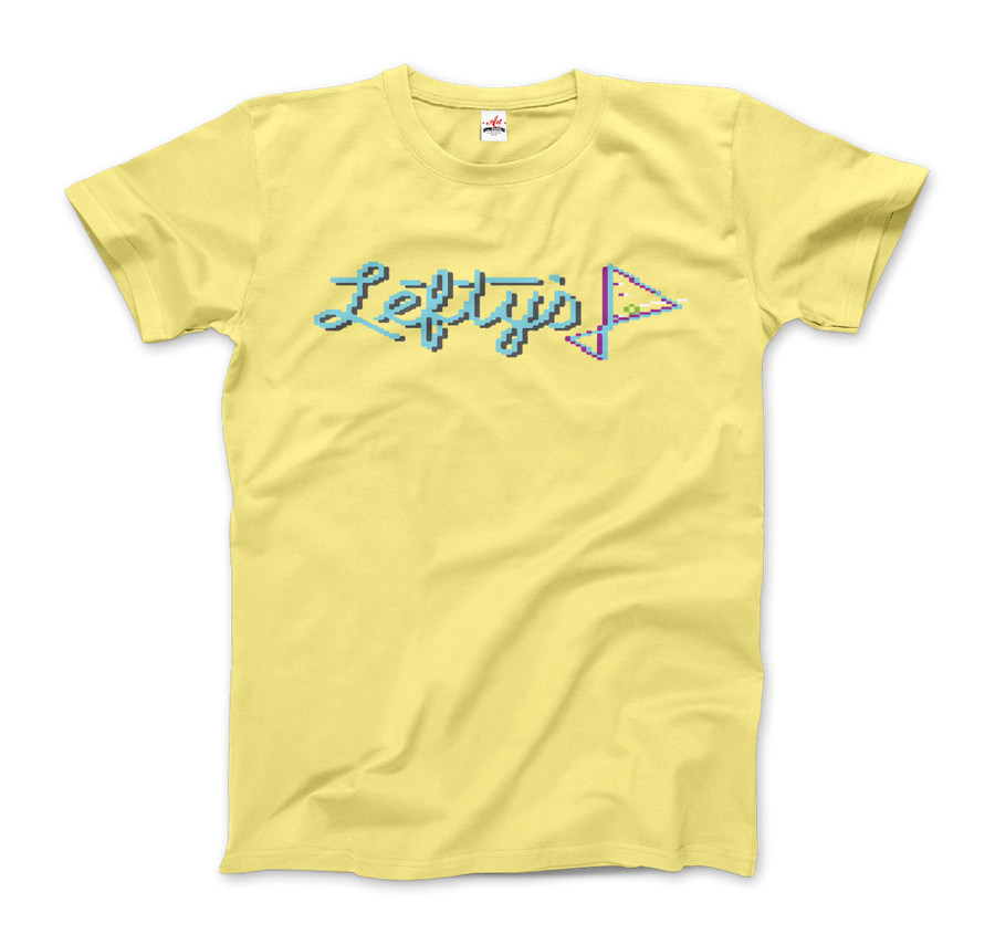 Leisure Suit Larry Lefty's Bar Logo T-Shirt - Men / Spring Yellow / Small by Art-O-Rama