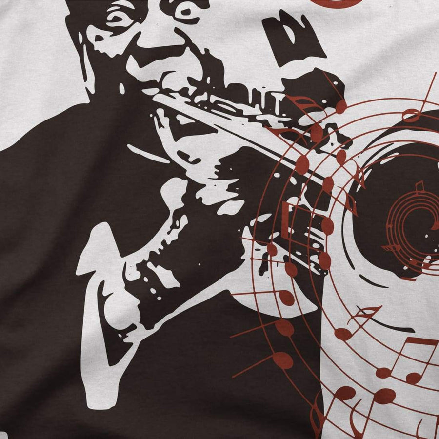 Louis Armstrong (Satchmo) Playing Trumpet T-Shirt - [variant_title] by Art-O-Rama