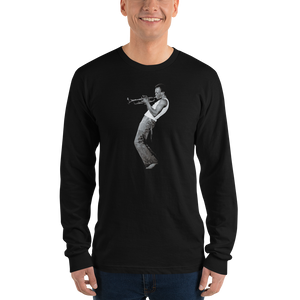 Miles Davis Playing his Trumpet Artwork Long Sleeve Shirt - [variant_title] by Art-O-Rama